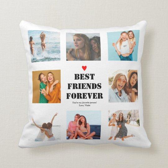 Best Friends Forever Girls BFF Bestie Gifts Throw Pillow