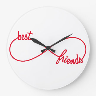 Best friends forever large clock