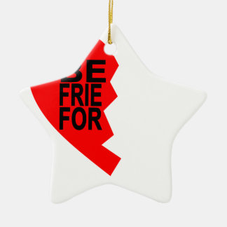 best friends forever left heart side T-Shirts.png Ceramic Star Ornament