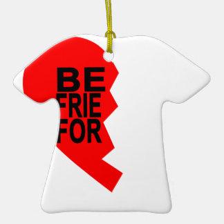 best friends forever left heart side T-Shirts.png Ceramic T-Shirt Ornament