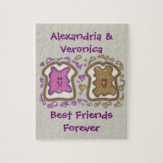 Best Friends Forever PBJ Sandwiches Jigsaw Puzzle