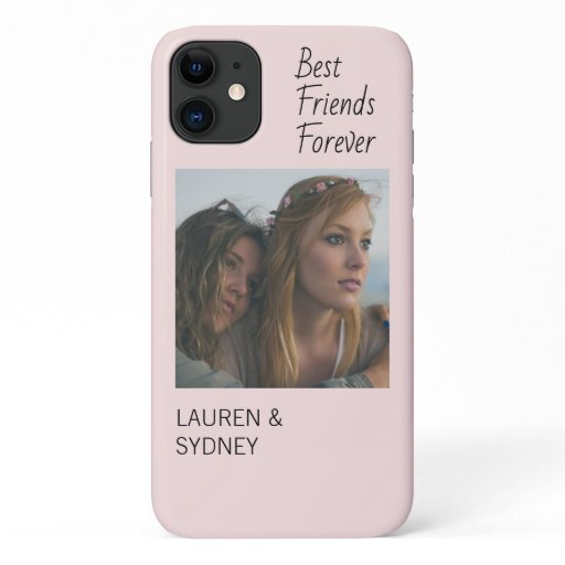 Best Friends Forever PInk Friendship Photo Custom iPhone 11 Case