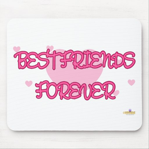 Best Friends Forever Pink Lt Hearts Mouse Pad