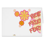 Best Friends Forever Pink Orange Flowers Part 1 Cards