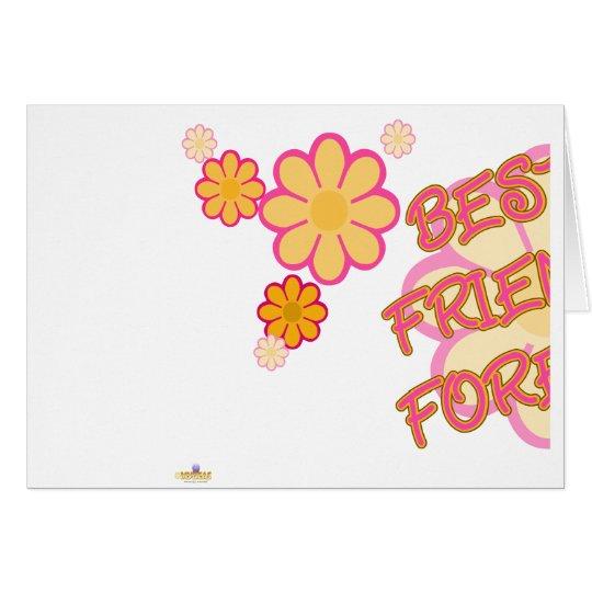 Best Friends Forever Pink Orange Flowers Part 1 Card