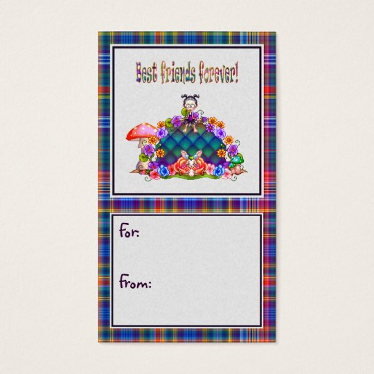 Best Friends Forever Pixel Art Business Card