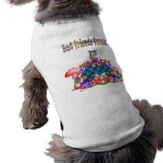 Best Friends Forever Pixel Art Dog Tee Shirt