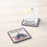Best Friends Forever Pixel Art Drink Coaster
