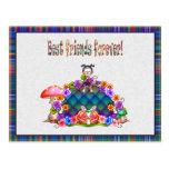 Best Friends Forever Pixel Art Postcard