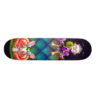 Best Friends Forever Pixel Art Skateboard