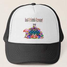 Best Friends Forever Pixel Art Trucker Hat
