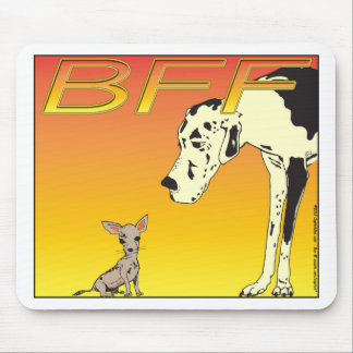 Best Friends Forever RED 01 Mouse Pad