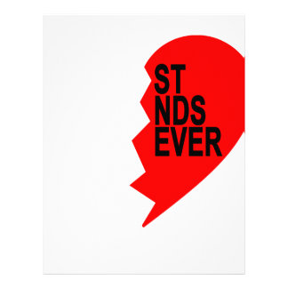 best friends forever right heart side T-Shirts '.p Letterhead