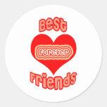 Best Friends Forever Round Sticker