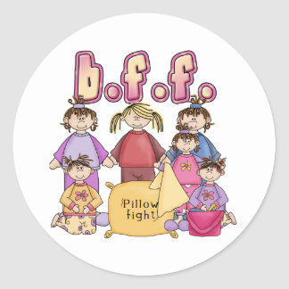 Best Friends Forever - Slumber Party Classic Round Sticker