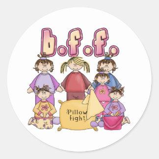 Best Friends Forever - Slumber Party Classic Round Sticker