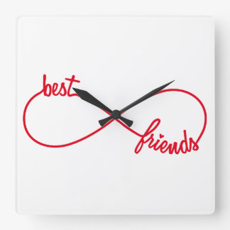 Best friends forever square wall clock
