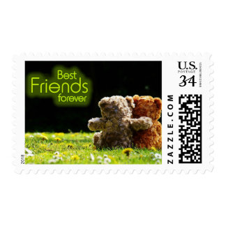 Best Friends Forever Teddy Bear Friendship Stamp