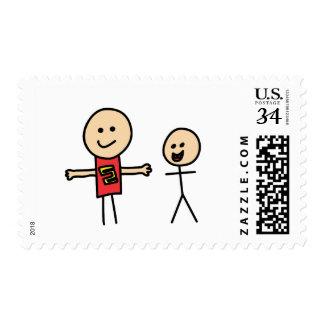 Best Friends Friendship Arms Open Wide Postage Stamp