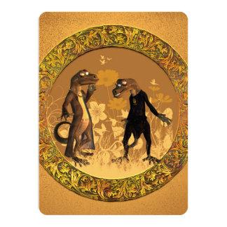 Best friends, funny geckos card