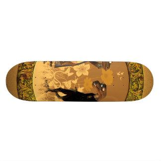 Best friends, funny geckos skateboard deck