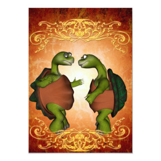 Best friends, funny turtles card
