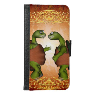 Best friends, funny turtles talk to each other samsung galaxy s6 wallet case