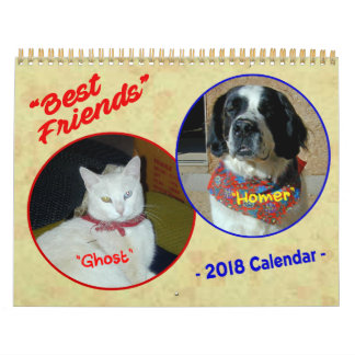 """BEST FRIENDS - Ghost and Homer"" 2018 Calendar"