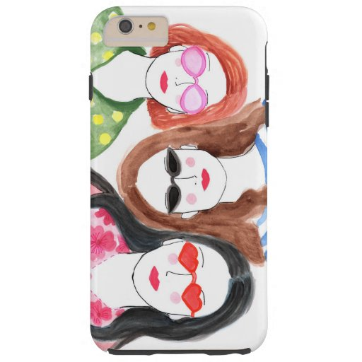 Best friends Gift iPhone Fashion Illustration Tough iPhone 6 Plus Case