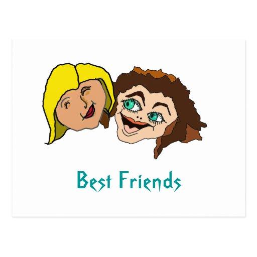 Best Friends - Girl Friends Postcard