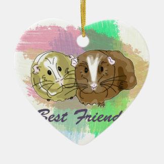 Best Friends Guineapig Design Ceramic Ornament