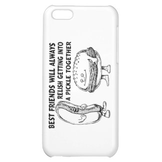 Best Friends Hamburger & Hotdog Trouble iPhone 5C Covers