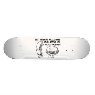 Best Friends Hamburger & Hotdog Trouble Skateboard Deck