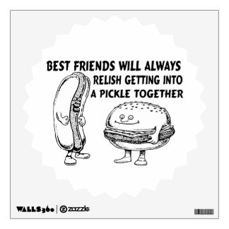 Best Friends Hamburger & Hotdog Trouble Wall Graphic