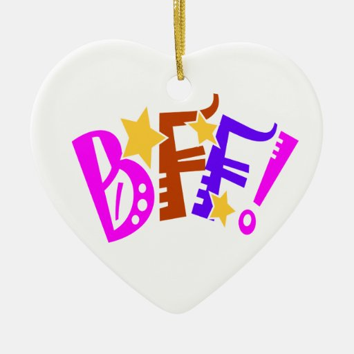 Best Friends Heart Ornament