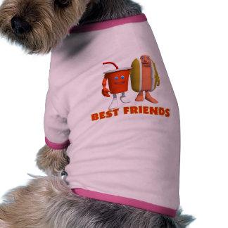 Best Friends Hot Dog & Soda Doggie Tee