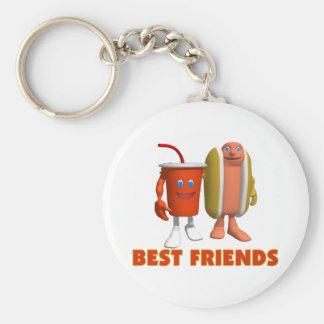 Best Friends Hot Dog Soda Keychains
