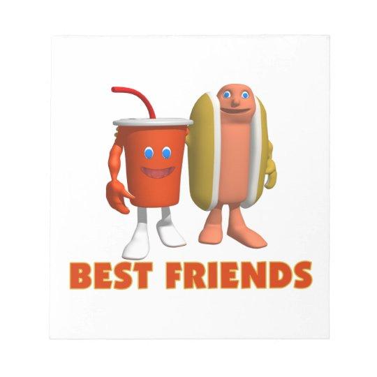 Best Friends Hot Dog & Soda Notepad