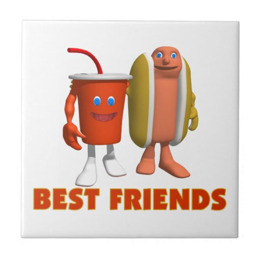 Best Friends Hot Dog & Soda Tiles