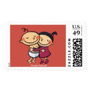 Best Friends Hugging Stamp