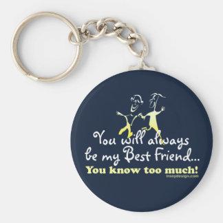 Best Friends Knows Basic Round Button Keychain
