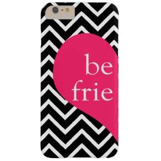 Best Friends Left Side Heart Chevron iPhone 6 Barely There iPhone 6 Plus Case