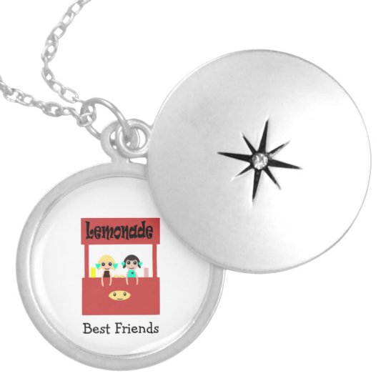 Best Friends Lemonade stand Silver Plated Necklace