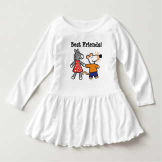 Best Friends Maisy and Dotty Hold Hands Dress