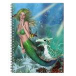 Best Friends Mermaid Fantasy Spiral Note Book