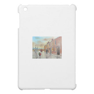 Best friends nostalgic street scene painting cover for the iPad mini