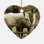 Best Friends Double-Sided Heart Ceramic Christmas Ornament