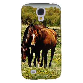 """""""Best Friends"""" - Pair of Horses Samsung Galaxy S4 Covers"""