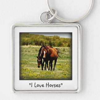 """""""Best Friends"""" - Pair of Horses Keychain"""
