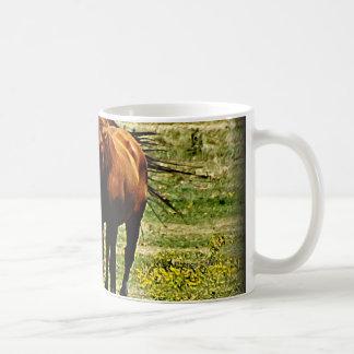 """Best Friends"" - Pair of Horses Classic White Coffee Mug"